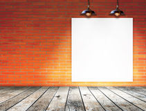 Blank frame on brick wall for information message Stock Image