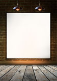 Blank frame on brick wall for information message Royalty Free Stock Photos