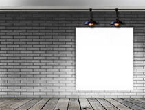 Blank frame on brick wall for information message Stock Images