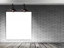 Blank frame on brick wall for information message Royalty Free Stock Image