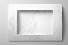Blank frame card or photo frame. Over grey background stock images