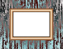 Blank frame on a colored wall lighting spotlights Royalty Free Stock Photo