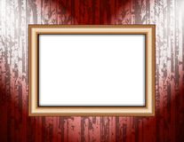 Blank frame on a colored wall lighting spotlights Royalty Free Stock Images