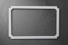 Blank frame on concrete wall. Illustration Stock Photography