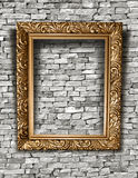 Blank frame on a concrete wall. Blank frame with shadow royalty free stock image