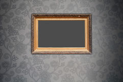 Blank Frame on Decorative Wallpaper Royalty Free Stock Photography