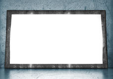 Blank frame in empty room Royalty Free Stock Image