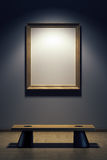 Blank frame in the gallery stock illustration