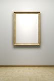 Blank frame in the gallery Royalty Free Stock Image