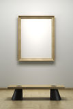 Blank frame in the gallery Stock Images