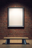 Blank frame in the gallery Royalty Free Stock Photography