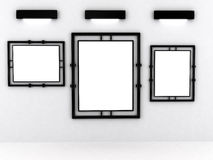 Blank frame in gallery Royalty Free Stock Photo