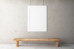 Blank frame in the gallery Stock Photos