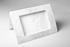 Blank frame greeting card or photo frame Royalty Free Stock Photography