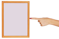 Blank frame with hand Stock Image