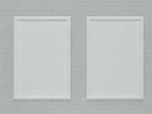 Blank  Frame Hanging over brick Wall Royalty Free Stock Images