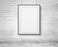 Blank frame. Hanging on white background Stock Image