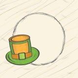 Blank frame for Happy St. Patricks Day celebration. Blank frame with stylish leprechauns hat for Happy St. Patricks Day celebration Stock Photo