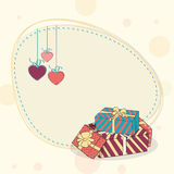 Blank frame for Happy Valentines Day celebration. Royalty Free Stock Photography