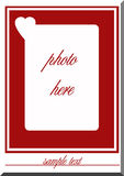 Blank frame with heart Royalty Free Stock Photos