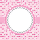 Blank frame with heart background. Royalty Free Stock Image