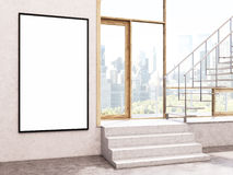 Blank frame in interior Stock Images