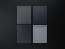Blank frame on interior wall gray tone color Stock Image