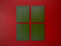Blank frame on interior wall red and green christmas tone color Royalty Free Stock Images