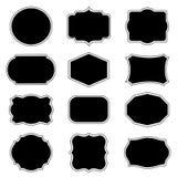 Blank frame and label mega set. Vector illustration. royalty free illustration