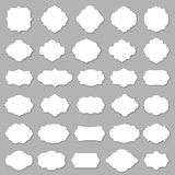 Blank frame and label set vector illustration