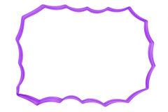 Blank frame made of purple ribbon isolated on white backgr Stock Image