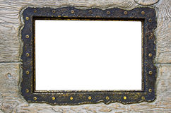 Blank frame on obsolete wood Stock Photography