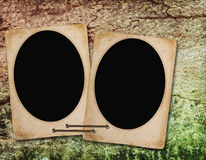 Blank frame on old wooden background Royalty Free Stock Photos