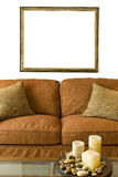 Blank Frame over Couch Stock Photography