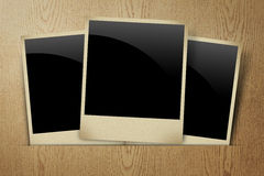 Blank frame photo on wood Royalty Free Stock Photos
