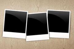 Blank frame photo on wood Royalty Free Stock Photography