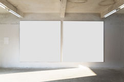 Blank frame. Real gallery with blank frame Stock Image