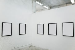 Blank frame. Real gallery with blank frame Royalty Free Stock Photography