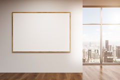Blank frame in room Royalty Free Stock Photo