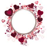 Blank frame with small hearts Stock Image