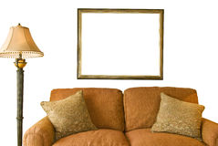 Blank Frame and Sofa Royalty Free Stock Images