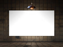 Blank frame on tile wall for information message Stock Photography