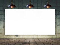 Blank frame on tile wall for information message Royalty Free Stock Image