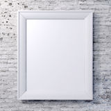 Blank frame on vintage wall. Isolated Royalty Free Stock Photos