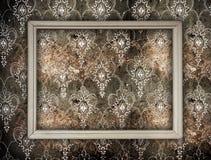 Blank frame on wall stock photos