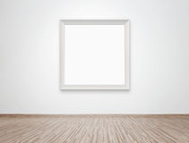 Blank frame at the wall stock photography