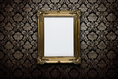 Blank frame at the wall royalty free stock photography