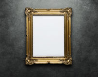 Blank frame at the wall with clipping path royalty free stock image