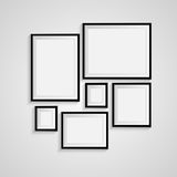 Blank frame on a white background Stock Photo