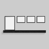Blank frame on a white background. Vector Royalty Free Stock Photo